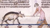kvinna mot svin cut