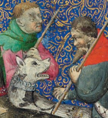possible mailcollar in the morgan library Livre de chasse