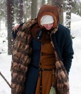 furlined coat on Sofia, showing typical medieval furpattern