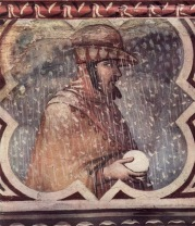 Allegory of Winter. Ambrogio Lorenzetti. Siena. Circa 1338-1340.